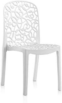 Shaf - Flora | Set 6 Sillas Jardin de Color Blanco | Fabricado en España con Materiales Reciclados: Amazon.es: Jardín