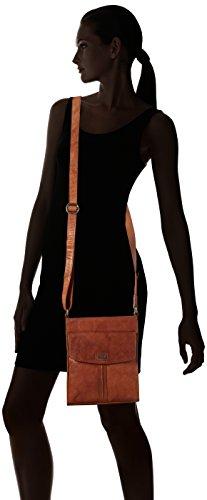 Spikes & Sparrow Crossover Bag - Bolsos bandolera Mujer Marrón (Brandy)