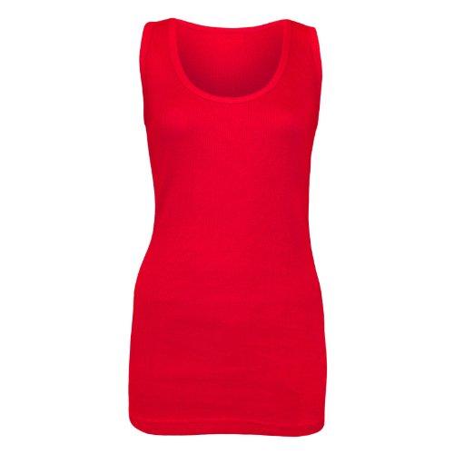 US Apparels - Camiseta sin mangas - Sin mangas - para mujer Rosso