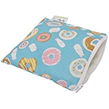 Itzy Ritzy Happens Reusable Snack and Everything Bag, Donut Shop, Green