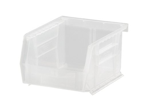 Quantum Storage Systems Hang and Stack Bin, 5-3/8 in L, Clear by Quantum Storage Systems
