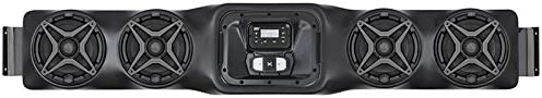 SSV Works WP-UO4S BLUETOOTH 4 Speaker Overhead Stereo System for Can-Am Commander and Maverick, Honda Big Red and John Deere Gator