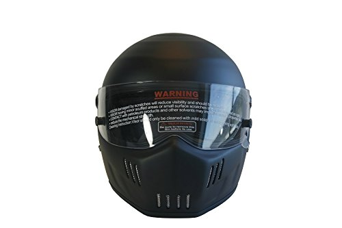 CRG Sports ATV Motocross Motorcycle Scooter Full-Face Fiberglass Helmet DOT Certified ATV-6 Matte Black Size Large