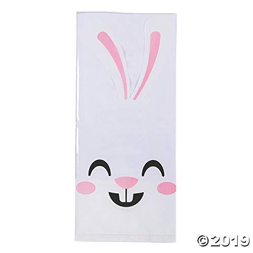 Fun Express Clear Bunny Face Cello Bags