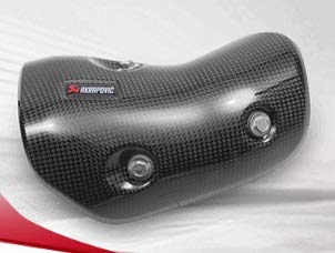 (Akrapovic Carbon Fiber Exhaust Heat Shield For Kawasaki Versys 250 300)