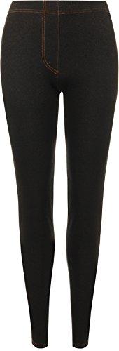 WearAll Women's Plus Size Jeggings Ladies Full Length Ankle Elasticated Leggings - Black - US 22-24 (UK 26-28)