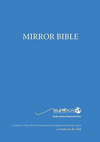Mirror Bible (Blue Edition 7 X 10 Inch Wide Margin) (Mirror Word)