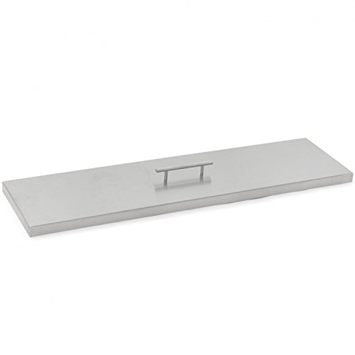 Stainless Steel Burner Lid - Fits 30-inch Linear Fire Pit Pan (Flame Burner Pan)