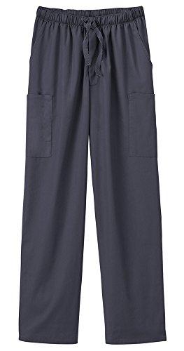 (White Swan Fundamentals 14843 Unisex Five Pocket Scrub Pant Charcoal XS Short)
