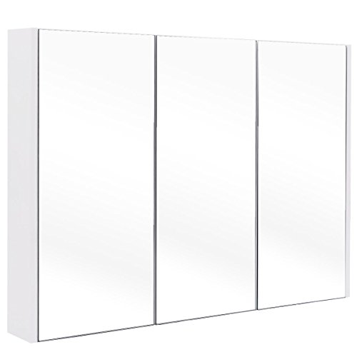 TANGKULA 36 Wide Wall Mount Mirrored Bathroom Medicine