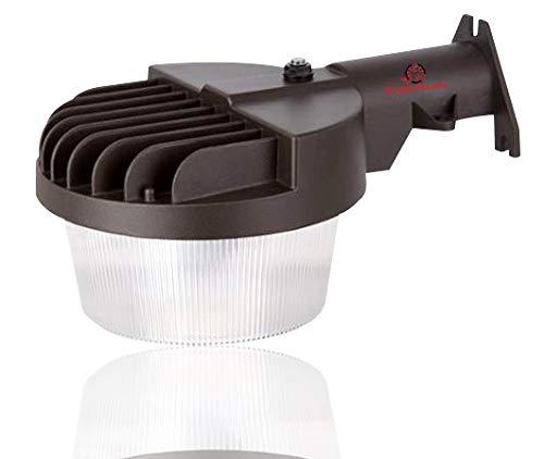 6,000 Lumen Outdoor Wall Light - Barn Style LED uses only 50 watts -Dusk to Dawn 6000 Lumen LED Wall Light- 50 watt -with Photocell - Outdoor Wall Light - 5000K ETL & DLC Listed (Wall 50w Light)