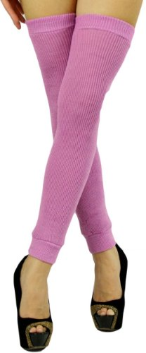 ToBeInStyle Women's Long Thigh Hi Separated Leg Warmers - One Size - Lavender