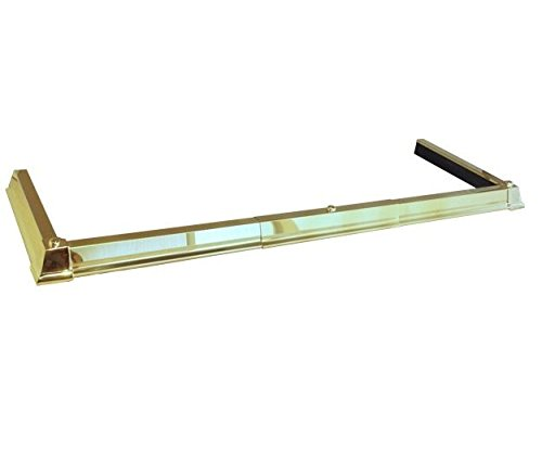 Black Country Metal Works 'The Haverleigh' Classic Brass Adjustable Hearth Fender - 122cm - 152cm