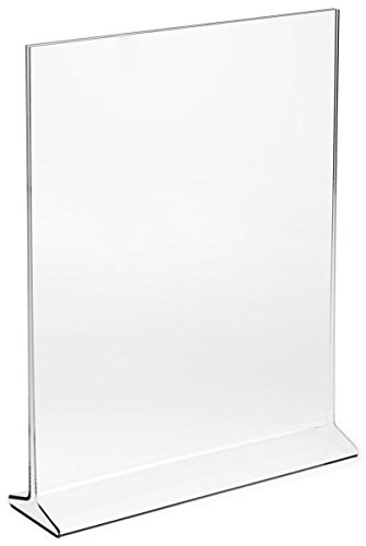 """UPC 733074302205, (Pack of 6) Bold Brands 5""""X7"""" Acrylic Sign Holder, Plastic Portrait Frame Display for Menus, Pictures, Ads , Promos"""