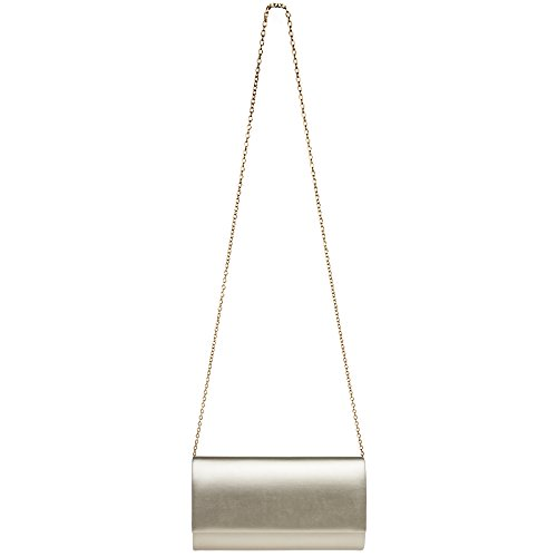 Clutch Ladies Large Metallic Champagne Evening CASPAR Envelope TA412 Bag Ex4aZ5qwIq
