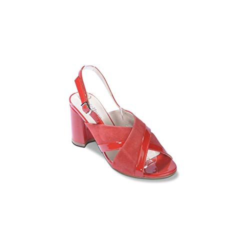 Scarpe Rosso In Sandalo Camoscio rosso Donna S530 Melluso Spuntato Fdwzzq