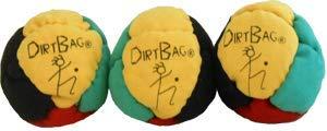DirtBag Classic Footbag 3 Pack - Red/Green/Yellow/Black