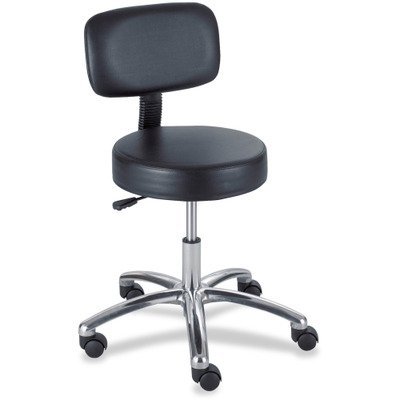 - SAF3430BL - Safco 3430BL Pneumatic Lab Stool with Back