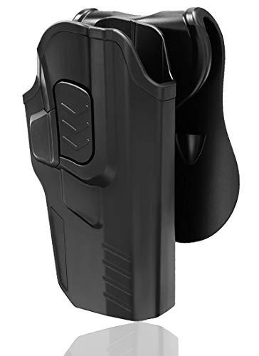 Bedone OWB Paddle Holster Fits Glock 17 22 31(Gen 1, 2, 3, 4) Glock 17 Gen 5, Polymer Holster Styles