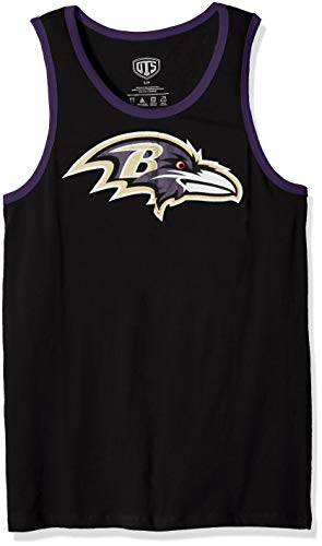 NFL Baltimore Ravens Male NFL OTS Cotton Tank Distressed, Jet Black, XX-Large
