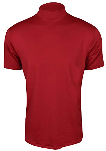 (NIKE TW Vapor Dri Fit Mock OLC Golf Polo 2019 Gym Red Large)