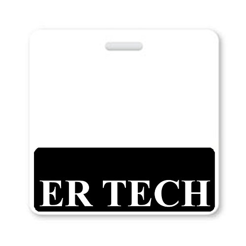 ER TECH Horizontal Badge Buddy with Black Border by Specialist ID, Sold Individually