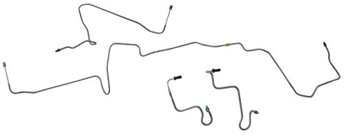 Inline Tube (Production Kit) (R1) 1995-1997 Ford Explorer 2&4 Door, 4 Wheel Disc with ABS Front Brake Line Kit, 5pc+1 Union Stainless ()