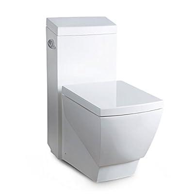 Ariel Platinum TB336M Contemporary European Toilet - White
