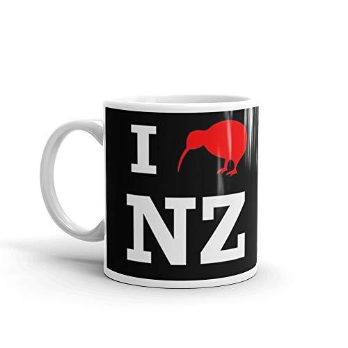 I Love New Zealand (Kiwi) white design 11 Oz White Ceramic