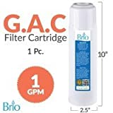 Magic Mountain Water Products (4 Pack) of Brio 10'' Replacement Filter GAC Granular Activated Carbon
