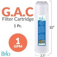 Magic Mountain Water Products (4 Pack) of Brio 10'' Replacement Filter GAC Granular Activated Carbon by Brio Premiere Platinum 500 Series Hot and Cold Bottle Water Dispenser