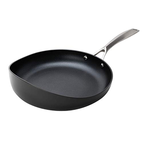 Radical Pan: Patented Design Cooking Pan - Hard Anodized Frying Pan - Eclipse PFOA Free Non-Stick - Sautè Skillet - SGS, NSF Certified - Stay Cool Handle - Oven & Dishwasher Safe (8.5-Inch)