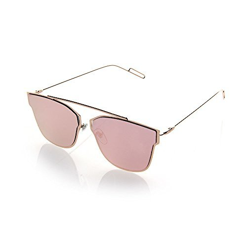 NYS Collection Eyewear Greenwich Avenue Metal Sunglasses (Gold, - Avenue Shops Greenwich