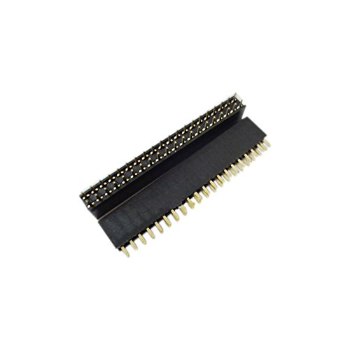 QX Electronics 1 2x20 Pin 2.54mm Double Row Female Pin Header new arrival hot salev et