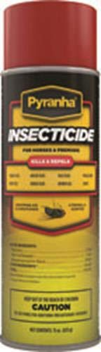 Pyranha 001AERO 068027 Insecticide Aerosol Fly Control for Horses Citronella, 15 oz ()