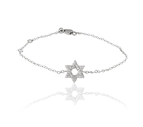 Libertini 0.09 Cts diamant Star Shape Bracelet in 9KT White Gold (GH Color, P...