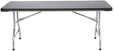 LIFETIME 6 Commercial Grade Stacking Folding Table, Black