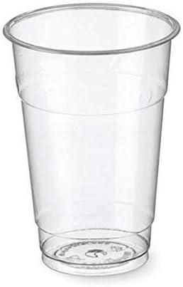 Bio 100 Vasos 230 CC PLA Transparente + PLA h. 9 cm Ø 7 ...