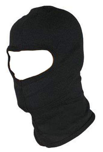Guilty Gadgets ® BLACK BALACLAVA BIKE MOTORCYCLE MOTORBIKE HELMET FACE MASK NECK WARMER RIB biking, hiking, fishing, horse riding, skating, paintball