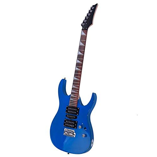 Magace 170 Burning Fire Style Professional Electric Guitar with Bag + Strap + Paddle + Rocker + Cable + Wrench Tool (Blue)