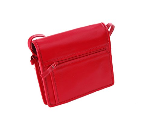 Berba - Bolso cruzados para mujer , color rojo