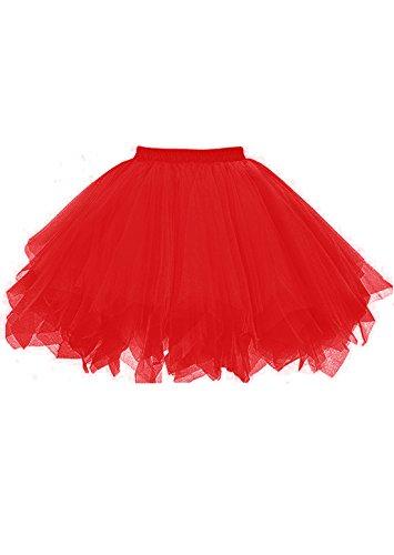 malishow Tutu Vintage Petticoat Crinoline Ballet Bubble Skirts Adult Tulle Skirt ()
