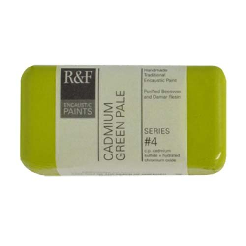 R&F Encaustic 40ml Paint, Cadmium Green Pale