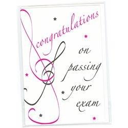 Felicidades por pasar el examen de color rosa Tarjeta de ...
