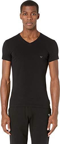 Emporio Armani Men's Big Eagle V-Neck T-Shirt Black Medium