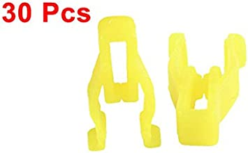 uxcell a15072300ux0057 30 Pcs Yellow Plastic Rivet Clips for 9mm Hole Dia Pack