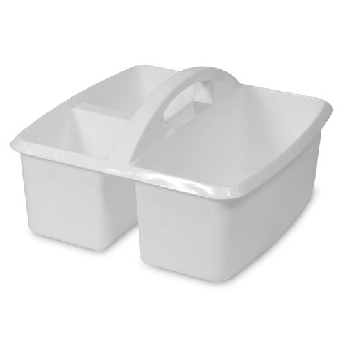 Utility Caddy - Small White Supplies Bucket by Romanoff Products The Storage Store 5536039