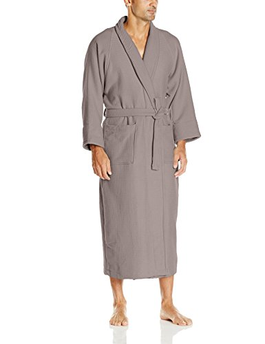 Superior 100% Cotton Waffle Robe with Terrycloth Lining a...