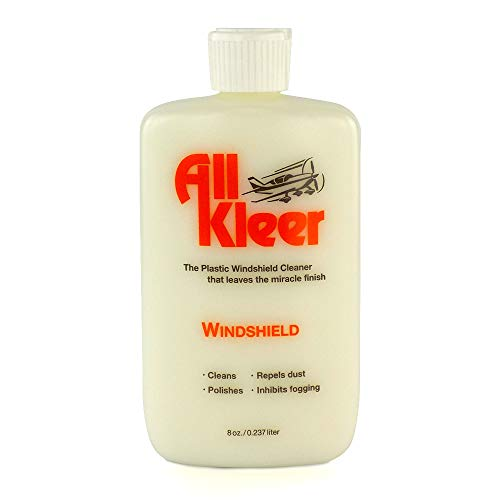 All Kleer 8 oz - Premium Plastic Polish & Cleaner - Cleans & Polishes: Plastic/Glass Windshield, Motorcycle Visor/Windshield, Golf Cart Body/Windshield, Marine/Boat, Aircraft, Lens, Device Screens - (Best Motorcycle Cleaner And Polish)