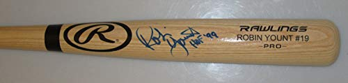 Robin Yount Autographed Signed Rawlings Big Stick Name Engraved Blonde Bat Auto22 - Certified Authentic